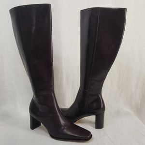 NWOT Antonio Melani Tall Leather Boots, Sz 6